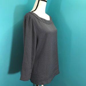 Ann Taylor loft size xxl dark blue blouse summer
